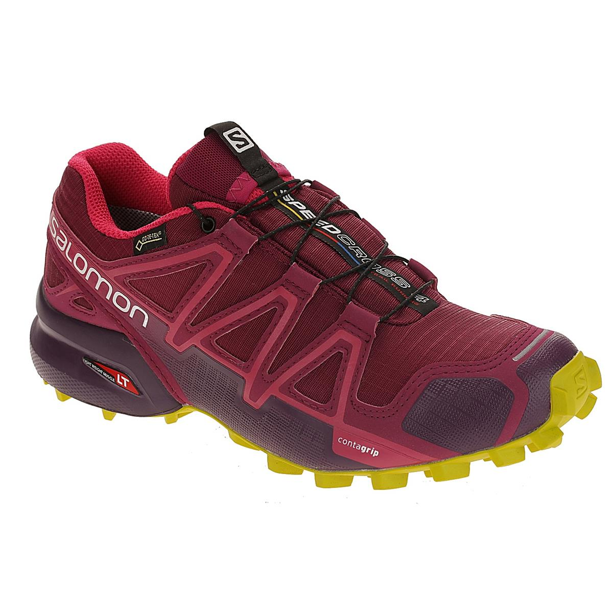 Details zu Salomon Speedcross 4 GTX Women Trailschuhe beet red