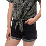 TenTree Meander Tie Front Shirt W agave green/periscope grey vintage jungle