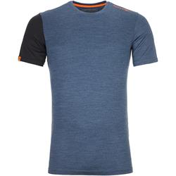 Ortovox - 185 Rock'N Wool Short Sleeve Herren Night Blue Blend