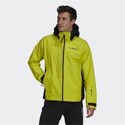 Adidas Terrex Gort-Tex Paclite Regenjacke schwarz gelb