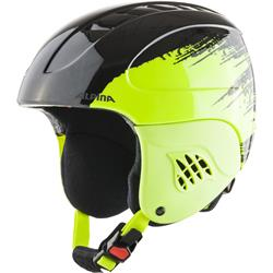 Alpina Carat black yellow Kinder Skihelm