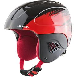 Alpina Carat black red Kinder Skihelm