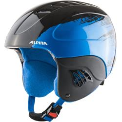 Alpina Carat black blue Kinder Skihelm