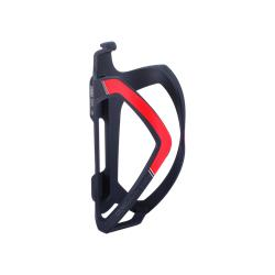 BBB Cycling FlexCage BBC-36 Flaschenhalter, matt schwarz/rot