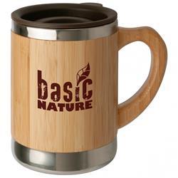 Basic Nature Edelstahlbecher Bambus 0,3 Liter
