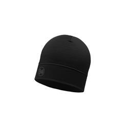Buff Merino Wool 1 Layer Hat Solid Black