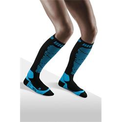 CEP Ski Merino Socks Women - black/blue