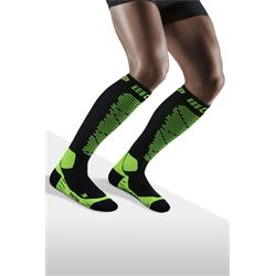 CEP Ski Merino Socks Men - black/green