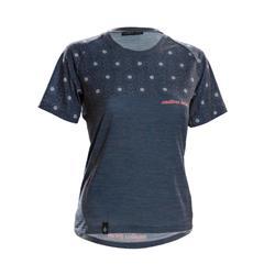 Endless Local Haunani Merino T-shirt Woman blue/white