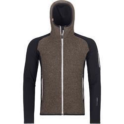 Ortovox - Fleece Plus Classic Knit Hoody Herren Black Raven