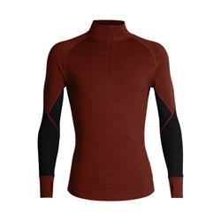 Icebreaker BodyFitZone™ Merino 260 Zone Half Zip Langarmshirt Herren espresso / black