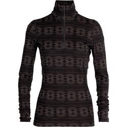 Icebreaker Merino 250 Vertex Half Zip Langarmshirt Crystalline Damen black / mink