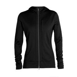 Icebreaker Merino Quantum III Zip-Hoodie Damen black
