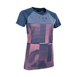 Ion T-Shirt Tee SS Scrub AMP Mesh_ine Women indigo dawn