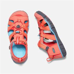Keen Seacamp II CNX coral/poppy red, Kindersandale 2020