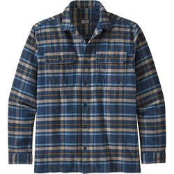 Patagonia - Long-Sleeved Fjord Flannel Shirt Herren Independence,New Navy