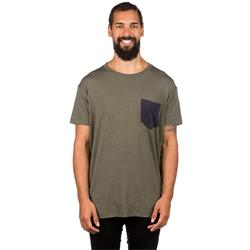Mons Royale Mens Harvey Pocket T, Olive