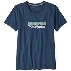 Patagonia - Pastel P-6 Logo Organic Crew woman Stone Blue