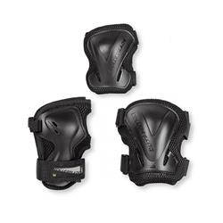 Rollerblade Evo Gear 3-Pack Schoner-Set, black