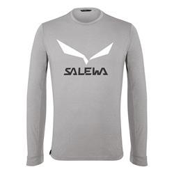Salewa Solidlogo Dry M heather grey Herren Longsleeve