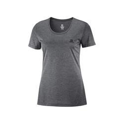 Salomon Agile SS Tee ebony black heather Damen T-Shirt