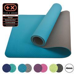 Schildkröt Fitness Bicolor Yoga Matte petrol grey