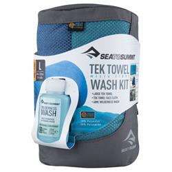 Sea to Summit Tek Towel Wash Kit Large blue
