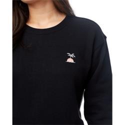 TenTree Palm Sunset Embroidery Crew W meteorite black