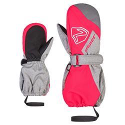 Ziener LAURUS AS® MITTEN GLOVE JUNIOR Skihandschuh light melange / neon pink