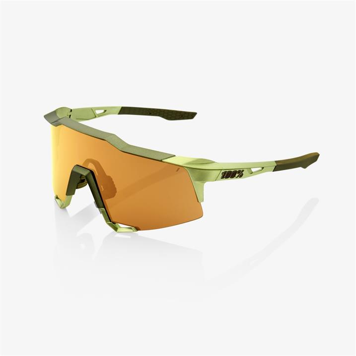 100%, Speedcraft Bronze Multilayer Mirror Lens + Clear Lens Included, Sport Performance Sunglasses