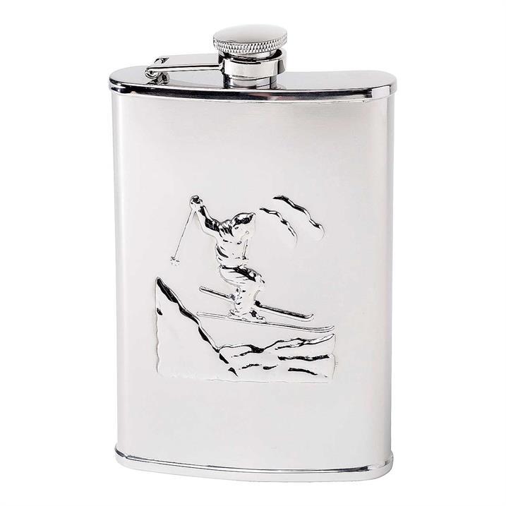 Herbertz Taschenflasche, Edelstahl, 237 ml, Ski