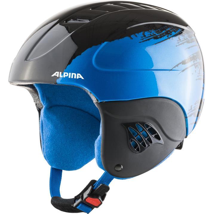Alpina Carat black blue Kinderskihelm
