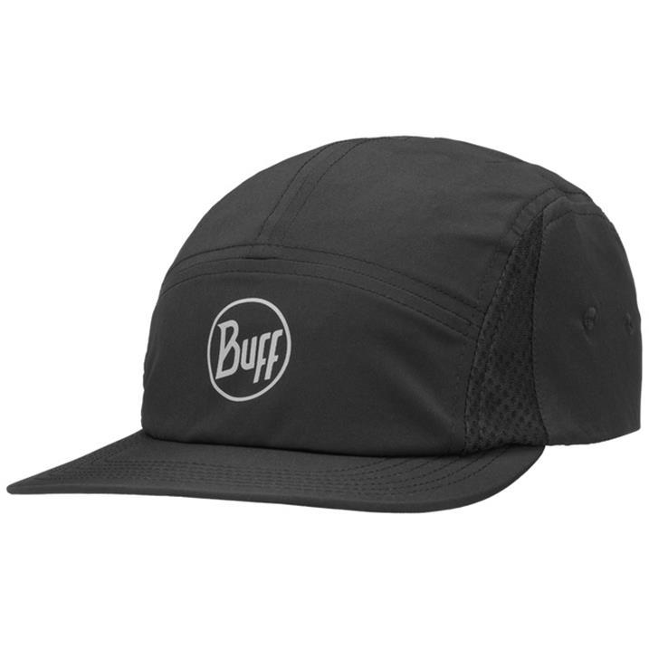 Buff 5 Panel Cap R-Solid Black