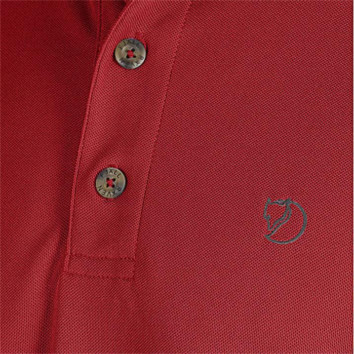 Fjäll Räven Crowley Pique Shirt M deep red