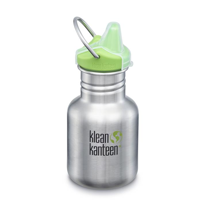 Klean Kanteen Kid Kanteen 355ml, Brushed Stainless - mit Sippy Cap