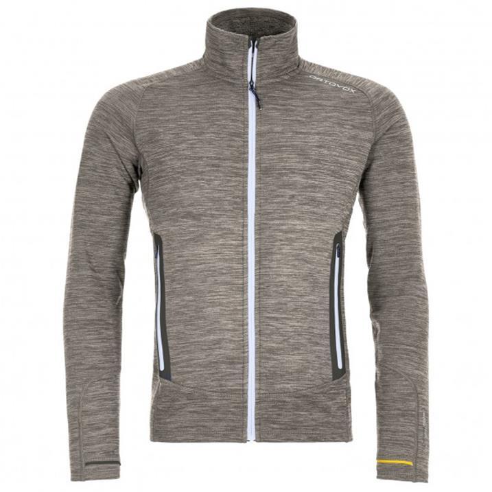 Ortovox Fleece Light Melange grey blend Herren Fleecejacke