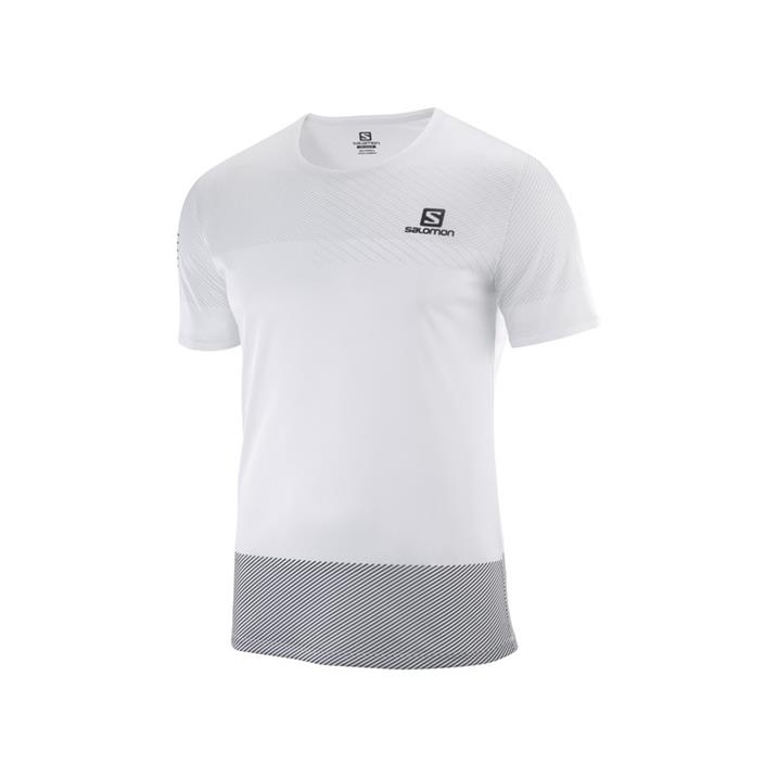 Salomon Sense Tee white black alloy Herren T-Shirt