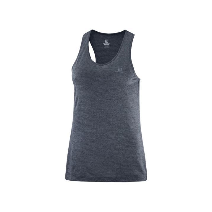 Salomon Agile Tank ebony black heather Damen Top