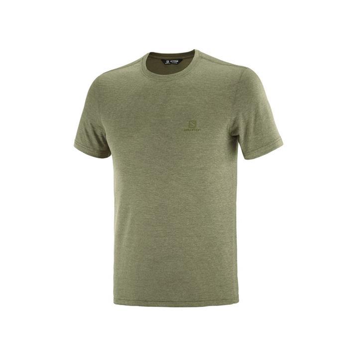 Salomon Explore Pique Tee olive night heather Herren T-Shirt