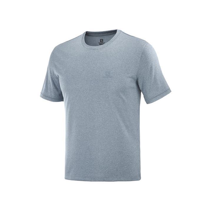 Salomon Explore Tee ashley blue heather Herren T-Shirt