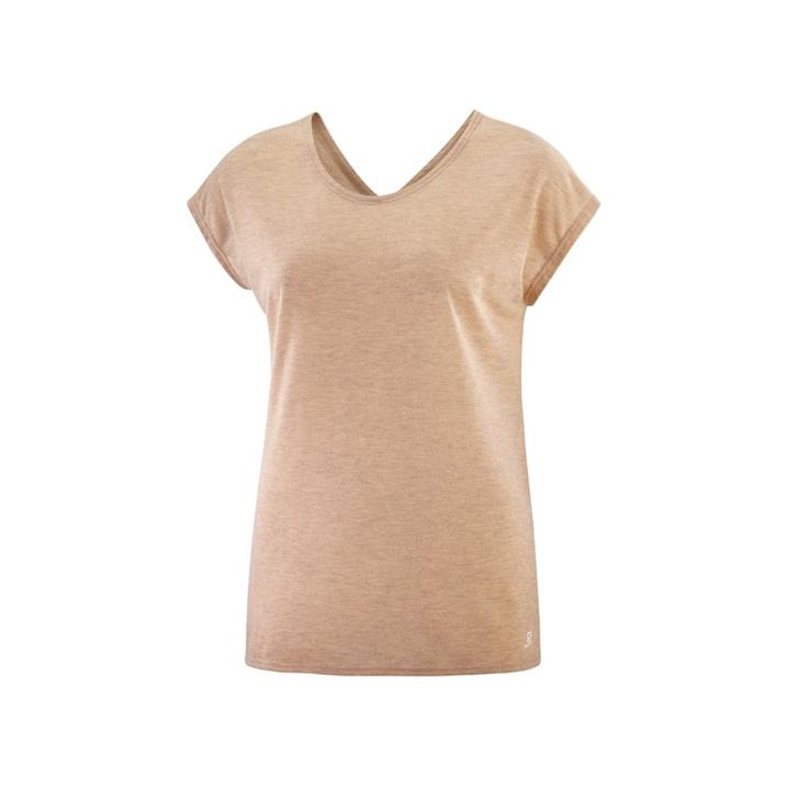 Salomon Comet Shaped Tee sirocco heather Damen T-Shirt