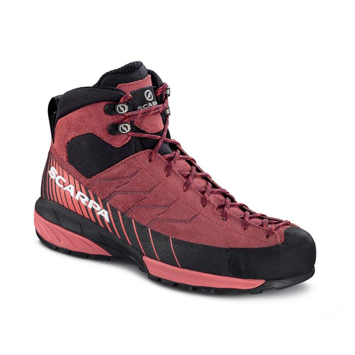 Scarpa Mescalito Mid GTX Wmn, brown rose/mineral red